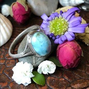 Jewelry - Vintage Sterling Larimar Ring
